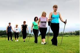 ходьба с палками для похудения